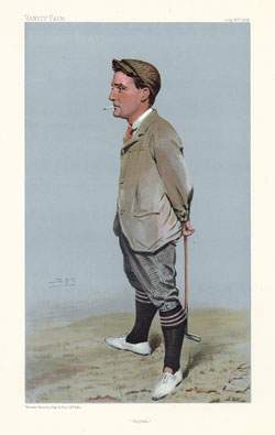 Caricatura de Hilton en Vanity Fair (1903)