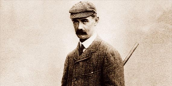 Retrato de John Ball, leyenda amateur de Hoylake