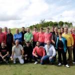 Foto de familia de la presentación en el Centro Nacional de Golf