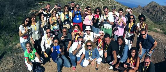Foto del grupo de invitados a #MallorcaFeelings (imagen de Curly Commas)