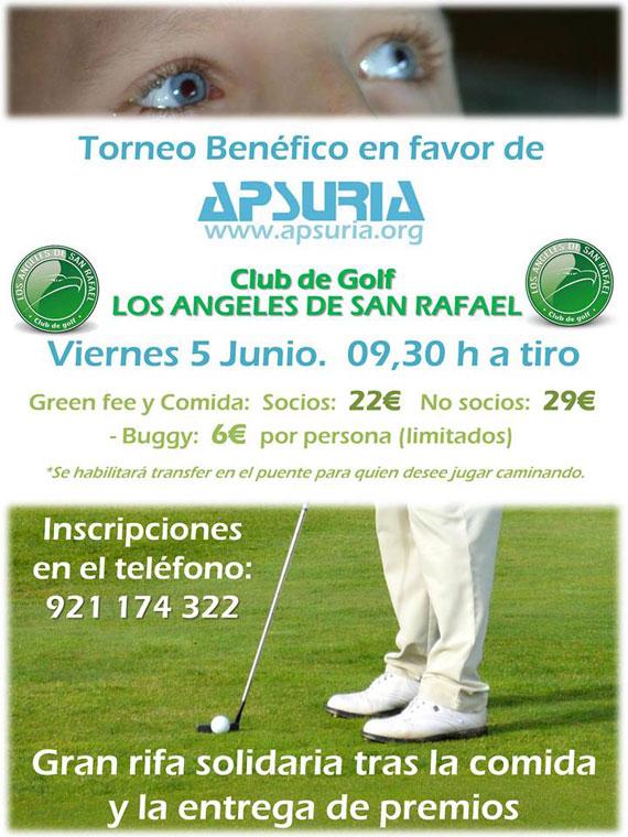 Cartel del torneo benéfico Apsuria en ASR Golf Club