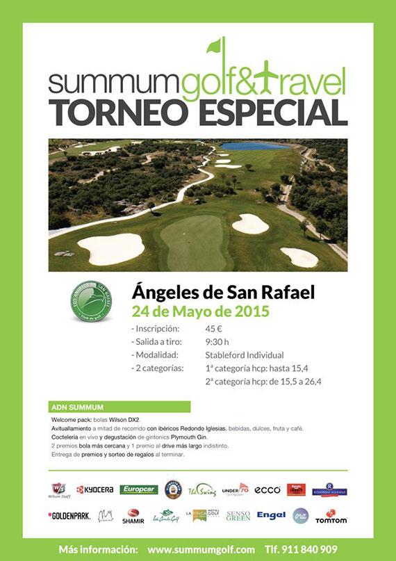 Cartel del torneo de Summum Golf en ASR Golf Club