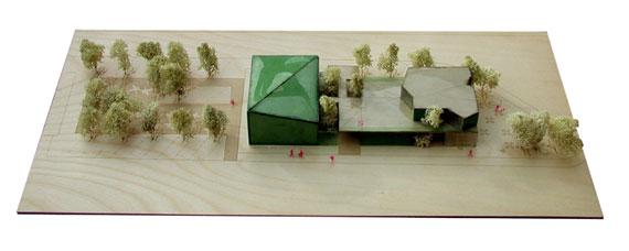 Maqueta presentada al concurso de la casa club de La Junquera y el Centro de Interpretación de Golf Severiano Ballesteros, de los arquitectos Patricia Hernández Tejada y Carlos de Riaño Lozano