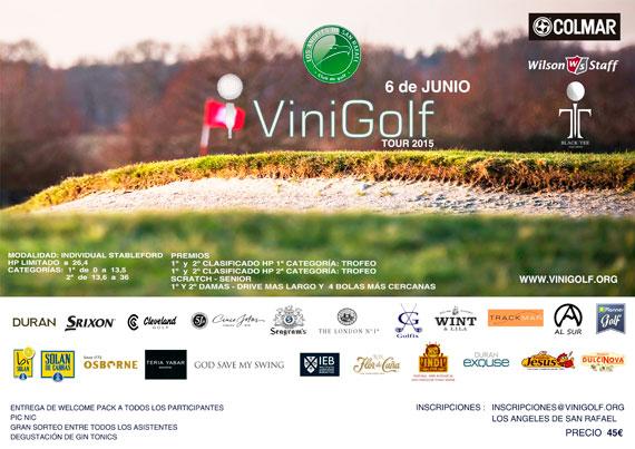 Cartel del torneo de ViniGolf en ASR Golf Club