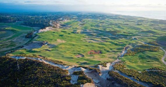Panorámica de Bandon Dunes Resort, uno de los links modernos y legítimos