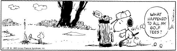 Tira de golf de Snoopy